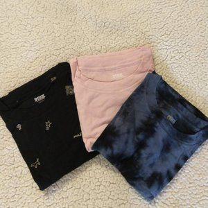Victoria's Secret PINK CROPPED TEE Bundle Sz L